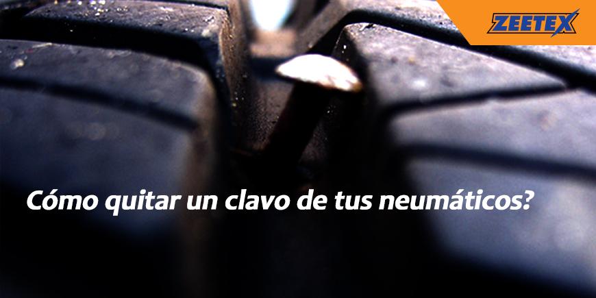 Cómo quitar un clavo de tus neumáticos